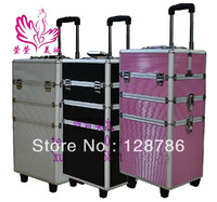 Chinese manufacturing exports three oversized fashion professional beauty trolleys trolley makeup case makeup box