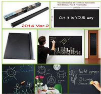 big discount! Chalk Board Blackboard Removable Vinyl Wall Sticker Decal Chalkboard 200 X 45cm