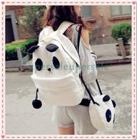 New Hot Fashion Cute Women Style Panda Schoolbag Backpack Shoulder Book Bag Set