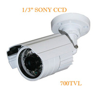Free Shipping 1/4'' 700TVL IR Bullet Camera With IR-CUT 20M Night Vision (WSK-BWA7D )4/PCS