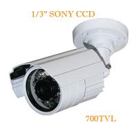 Free Shipping 1/4'' 700TVL IR Bullet Camera With IR-CUT 20M Night Vision (WSK-BWA7D )4/PCS