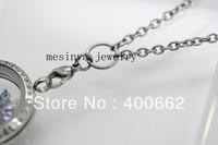 316L Stainless steel 0.8 wire 3.0mm width 30'' rolo chain  for dangle charm floating glass locket love note keepsake 25pcs/lot