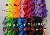 Can Mix colors,1.5mm Diameter Shamballa Bracelet Multicolor Nylon Cord Chinese Knot Beads Bracelet Ropes