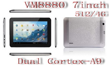 2013 new model 7 inch WM8880  A9 dual core tablet pc y702  512/4G