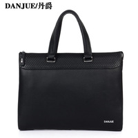 2013 mens Top selling Business genuine leather man bag black man bag for office style 8823-1