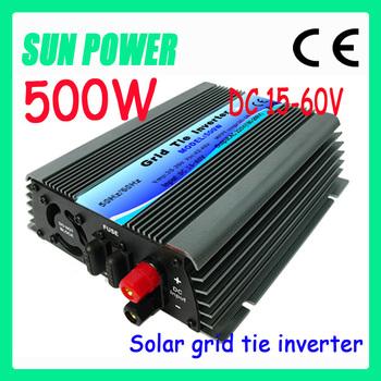 Free shipping ,6pcs Grid Tie 500W Pure Sine Solar Inverter for PV Power 600W, DC15V~60V, AC 90V-140V/180V~260V, 50Hz or 60Hz