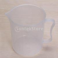 Free Shipping 500ml Transparent Plastic Graduated Beaker