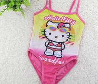 6pcs/lot Cute cartoon hello kitty Siamese swimsuit for Children girls