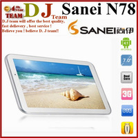 2G phone 7inch tablet pc Sanei N78 WIFI Bluetooth 512MB RAM 4GB ROM  MTK6575 1.0GHz Android 4.01024x600px