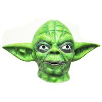 Star Wars Master Yoda Green Adult Latex Head Mask Halloween Toy/Prop