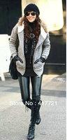 Free shipping ML7569 Warm Women's Velvet Faux Leather Sexy Leggings Thick Autumn, Winter Shiny Leggings