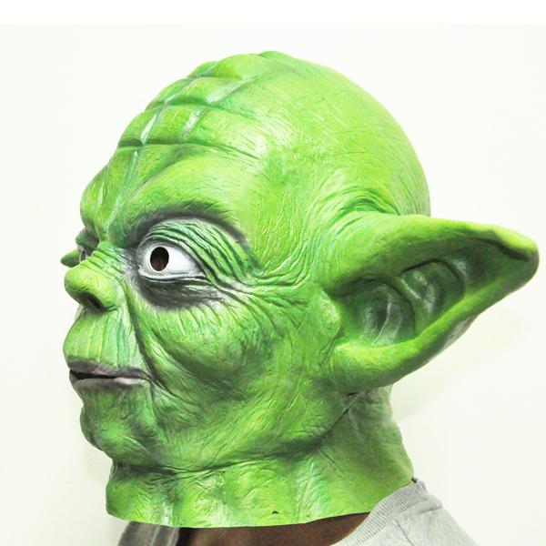High Quality Star Wars Master Yoda Latex Creepy Costume Party Cosplay Head Mask(China (Mainland))