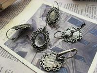 Free Shipping Diy handmade materials bronze earrings trays 10*14mm d140 10pcs/lot  2013 Jewelry
