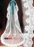 Bridal 2.6 meters ultra long laciness veil beautiful wedding formal accessories
