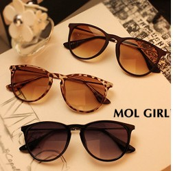 Fashion popular metal material thin legs small round box women's sunglass (3color mix)(China (Mainland))