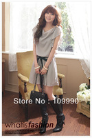 Summer 2014 Women Dress cute New Chiffon Plus Size Novelty Vintage Korean America Ruffle accommodative elegant cool knee length