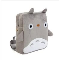 Cartoon totoro plush square backpack school bag gift baby soft plush toys free shipping