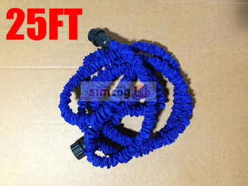 Drop/Free shipping 1pcs/lot 25FT Flexible Expandable ,US/EU Stantard  choose,with color box package