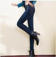 Fashion Design Mid Waist Slim Lady Jeans,Woman Pencil Pants For Winter Season  LP05