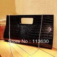 Fashion stone pattern 2013 japanned leather crocodile pattern handbag briefcase women's dinner party handbag