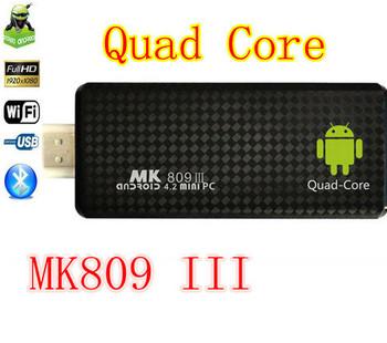 Newest TV BOX MK809 III Rockchip RK3188 Quad Core Cortex A9 MINI Androind 4.2 PC TV Stick 2GB/ 8GB ROM 1.8GHz