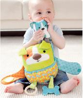free shipping SKP children baby Hug and Hide Activity Stroller mirror soft Toy - dog