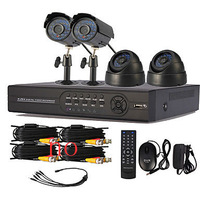 4 Channel One-Touch Online CCTV DVR System(4 Channel D1 Recording)