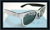 sun glasses Women classic vintage star sunglasses men white frame dark green len High Quality Low Price free shipping