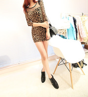 2013 new sexy lace Slim Leggings essential leopard dress