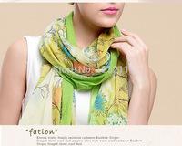 Flower-print scarves Stylish Design for Ladies fashion shawls Free shipping