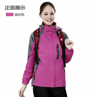 2013 New Couple Lover style winter jacket Outdoor sports coat ladies Waterproof breathable windproof 3 in1 outdoor jacket women
