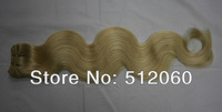 brazilian body wave, human hair weft, 18inch,20inch,22inch, #613 bleach blonde, Grade 5A , 3pcs/lot