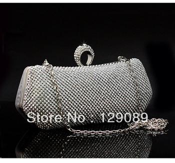 free shipping new Quality diamond women's handbag evening bag 2013 day clutch bag clutch bridal bag evening bag banquet 3954 - 3