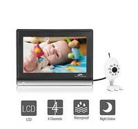 Free Shipping Wireless Widescreen 7 Inch LCD with Night Vision Camera  Baby Monitor KA2BM03