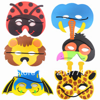 10pcs/lot New year gift Kids cartoon animal EVA mask Christmas Halloween Party Masks Educational toys for children