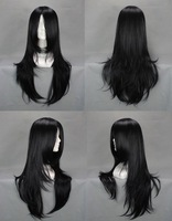 Popular Black New Design Naruto Orochimaru Hyuuga Neji 60cm Long Anime Cosplay Wig