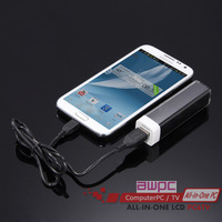 2600 mAh Mini portable mobile power charging treasure mobile power bank A4 Free Shipping
