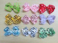 Free Shipping wholesale Polka Dot Hair Bows Clips ,60pcs/lot