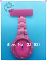 free shipping -- 2013 Newest style fashion plastic nurse Watches Jelly colorful nurse Watch, 9 colors