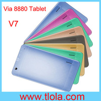 Free Shipping HK Post Air Mail  7 inch Dual Core VIA 8880 Android 4.2 WIFI Capacitive HDMI Dual Camera Tablet PC