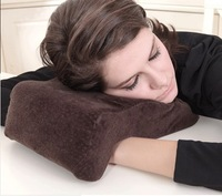 promotion 1pc factory direct 100% velvet 32*23*12/9cm multifunctional pillow innovative items nap pillow