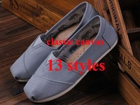 14 colors Retail Fashion Flat Casual Canvas Shoes Mix color Unisex Classic Canvas Espadrilles Plain Casual Sneakers35-45