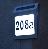 Free shipping 3led stainless steel solar lights door plate lamp indicator lamp b1,Solar house number light,