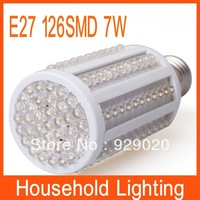 E27 7W 126 SMD F5 LED Corn Bulb Lamp Free Shipping  80672 80673