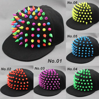 New hot Bigbang jazz hat baseball cap Men/ Women Spike Studs Rivet Cap Hat Punk style Rock Hiphop For Pick Free shipping
