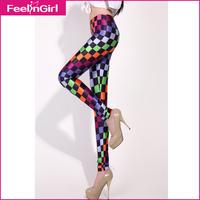 Good Quality Galaxy Plaid Printed Pants Elastic Trousers Women Leggings Plus Size Sport Clothes Fashion Ladies Casual Leggings
