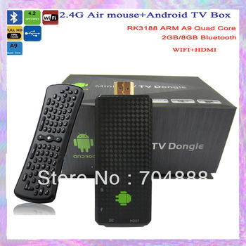 Android4.2 TV Box  Rockchip3188  Quad Core  2GB RAM 8GB ROM+Air Mouse