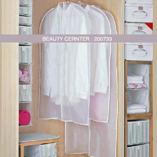 Free shipping white transparent Suit dust cover overcoat dustproof bag PEVA dust cover storage bag 4pcs/lot