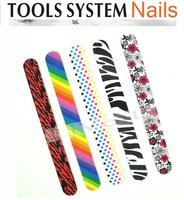 Free Shipping Nail File Buffer nail art tool, Double Sided Nail files 180, EVA material, Printed sponge nail file, 4UNL71