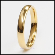 high quality gold tungsten Carbide ring tungsten jewelry Wedding bands High polished Prevent scratch